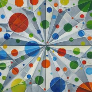 PAK.studio#118.Polka Dot Iris III_60%22x60%22_painting